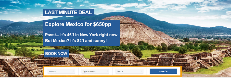 Travelo last minute deal