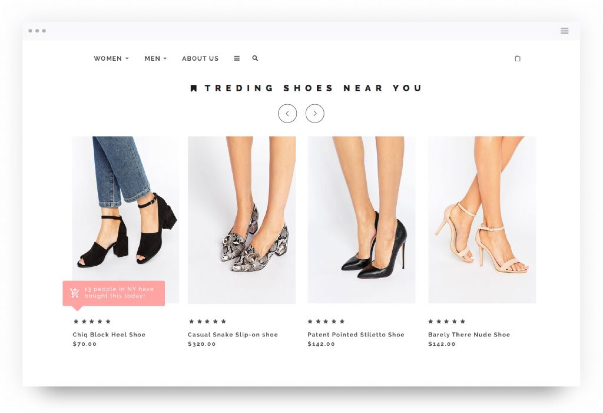 Social proof - Fashion personalization strategy